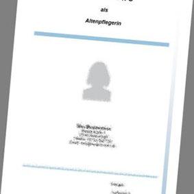 Deckblatt Als Altenpflegerin Professionelle Vorlage