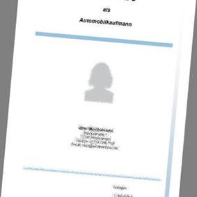 deckblatt als automobilkaufmann - Bewerbung Automobilkaufmann